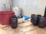 Drums Ready for the Grapes