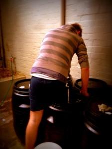 Garage Winemaking - Foot Stomping