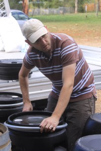 Preparing Wine Barrels - Plastic Drums